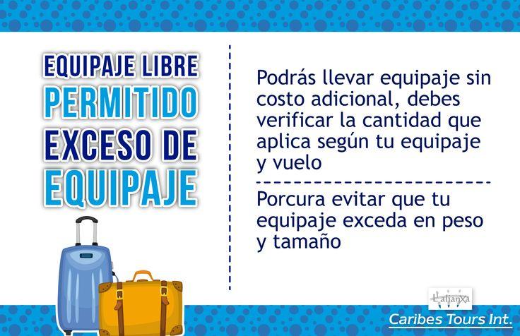 Equipaje libre permitido y exceso de equipaje