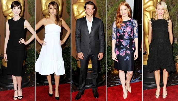 """В понедельник ближе к полудню более чем 160 номинантов на главную кинонаграду Америки """"Оскар"""" собрались на ежегодный, в этом году 32-й, обед в свою же честь"""