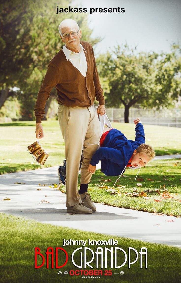 Introducing the new jackass presents bad grandpa movie poster johnnyknoxville