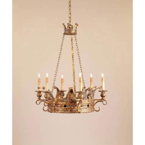 kitchen light idea crown six light chandelier currey company candles
