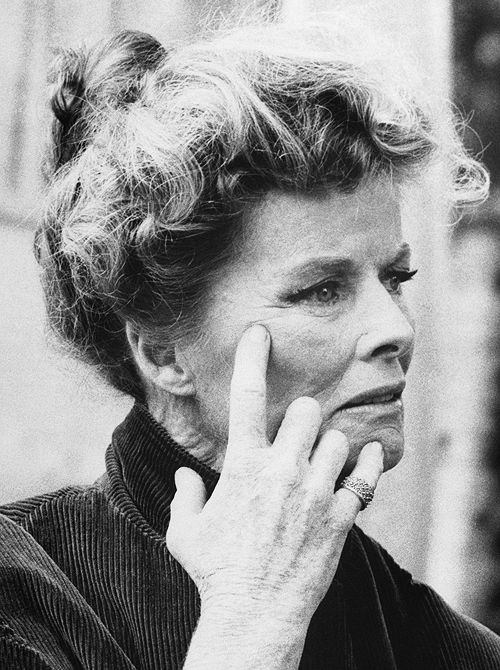 Katharine Hepburn on the set of Guess Who's Coming to Dinner, 1967.