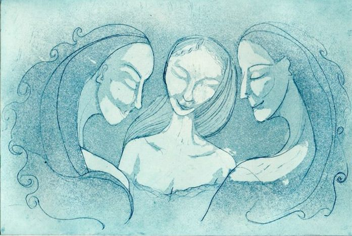 Sleeping sisters Etching and Aquatint 2008  http://www.minnaristolainen.com/shop/wordpress/?p=299