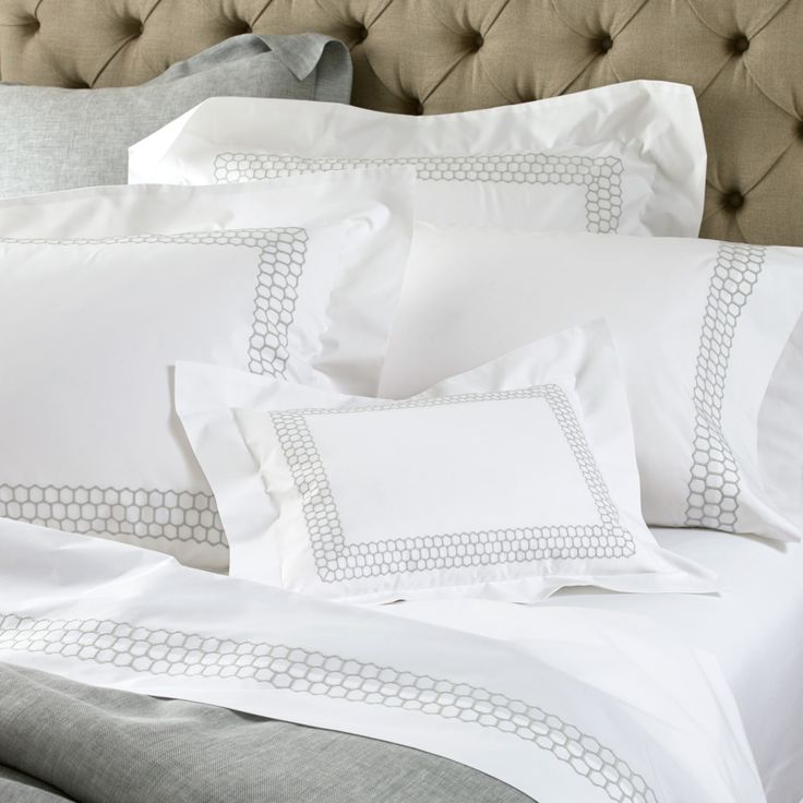 Liana Features An Embroidered Three Layer Honeycomb Band On Matouku0027s Top Quality  Count Ceylon Percale Fabric. Designed To Coordinate With Our Terra Duvet ...