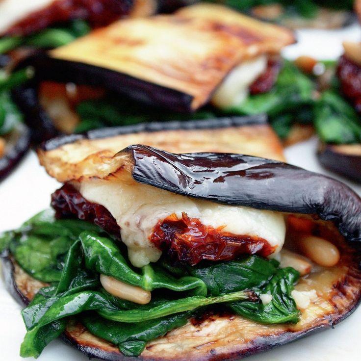 Eggplant Wraps use vegan cheese.