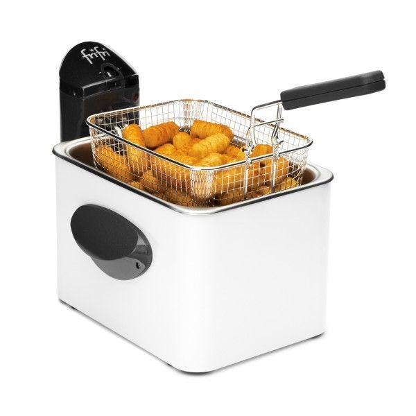Friteuse Frifri 1905B Cuisson rapide, friteuse solide et durable grâce à son manteau en métal, la friteuse Frifri 1905B s'installe en toute discrétion dans votre cuisine.
