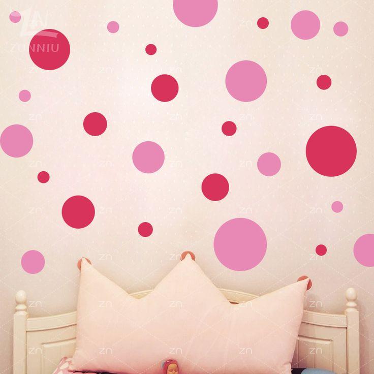 ZN Circle Polka Dots wall stickers Assorted