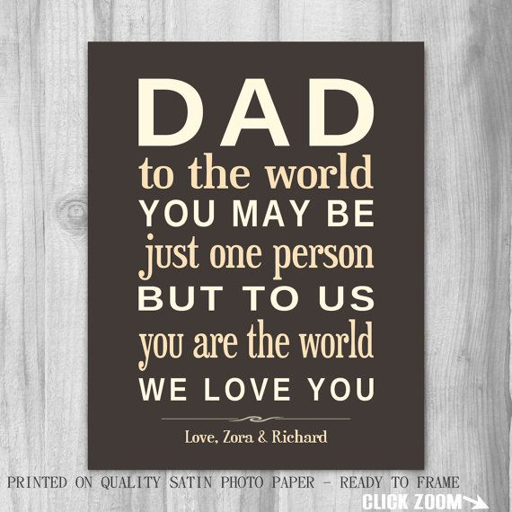 Gift for Dad Grandpa Gift Personalized Art by PrintsbyChristine