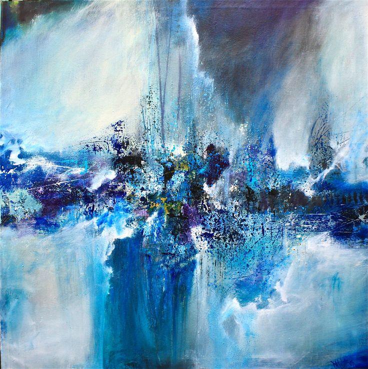 Indigo Blues by DL Watson Painting