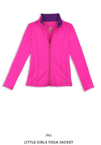 Little Girls Yoga Jacket www.jillyoga.com