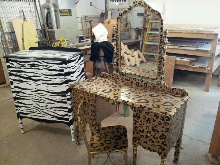 Animal print furniture!