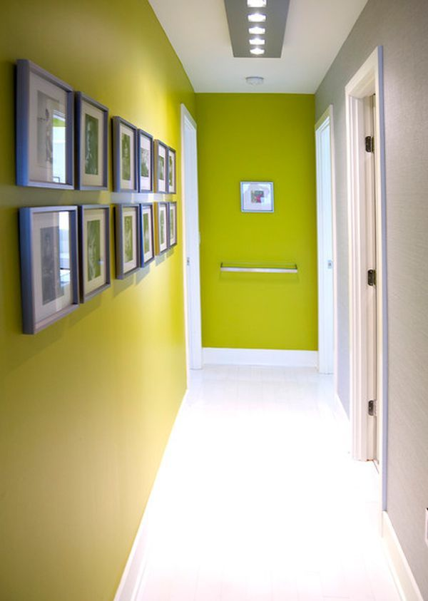gallery wall #hallway  Basically what I need to do in my hallway, more lighting and pictures!
