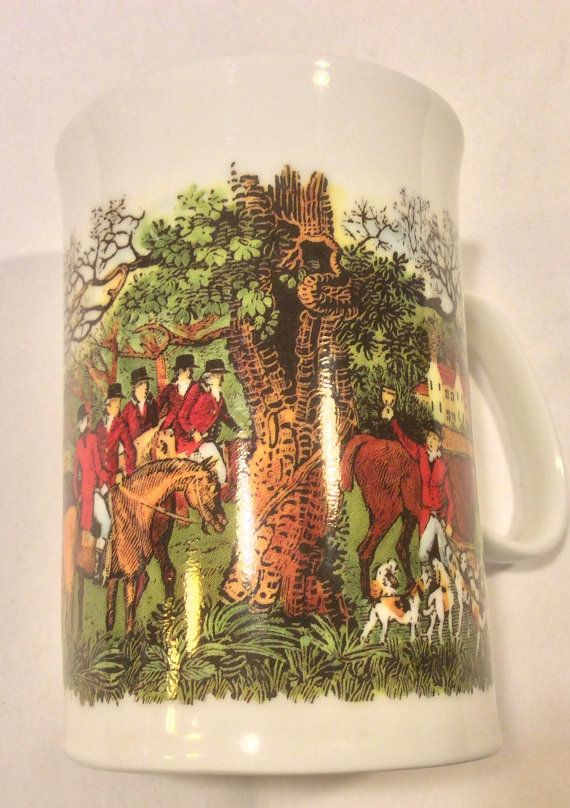 Dunoon Fine Bone China Coffee Mug Tally Ho The by TucsonTiques