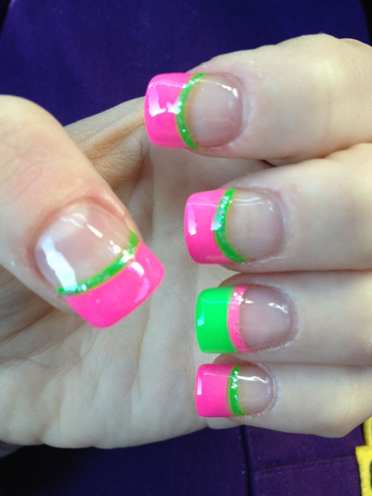 Top 25+ Best Neon French Manicure Ideas On Pinterest