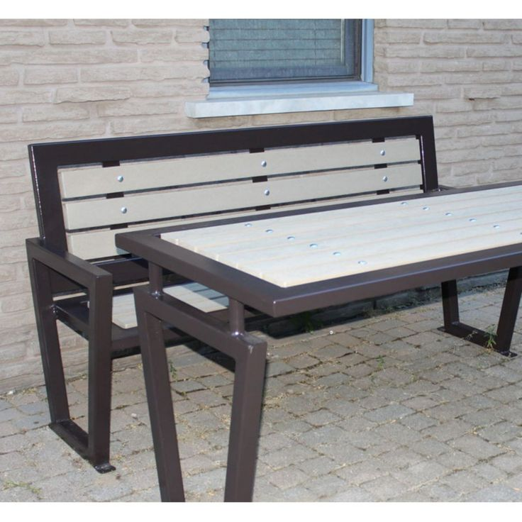 Paris Equipment Decora 6 ft. Recycled Plastic Cedar Planks Metal Outdoor Bench - DXR6 - RCD - CB