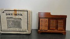 Vintage Dollhouse Furniture Miniature Wooden DRY SINK NOS 1978 Boxed Chadwick