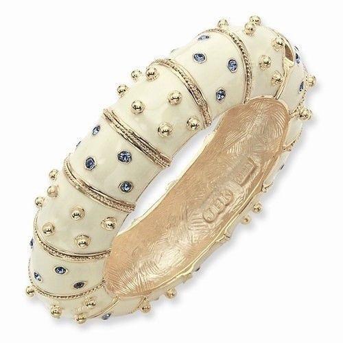 Jackie Kennedy Bracelet  Creamy White Enameled by SCLadyDiJewelry