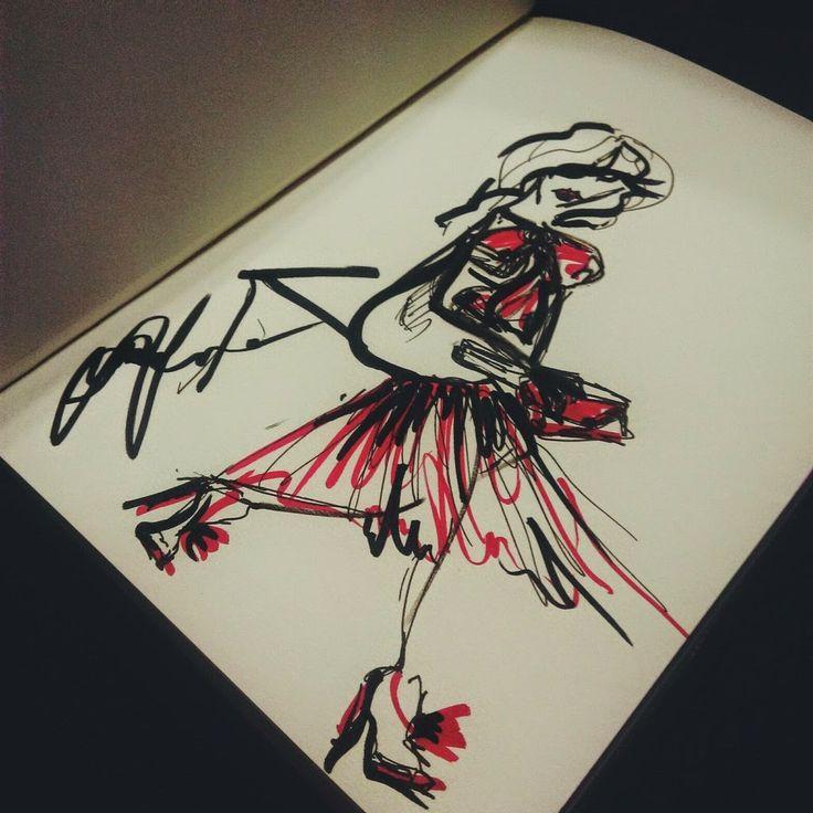 #art, #black, #color, #draw, #fashion, #hot, #illustration, #paint, #pen, #red, #арт, #black