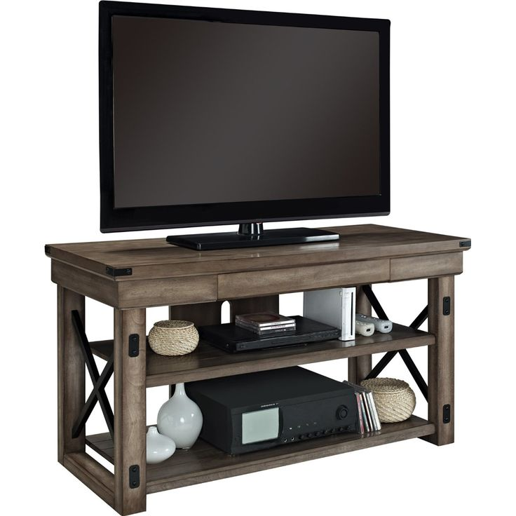 This Rustic Wood TV Stand Gives You An Attractive Way To Store And Display  Your 50