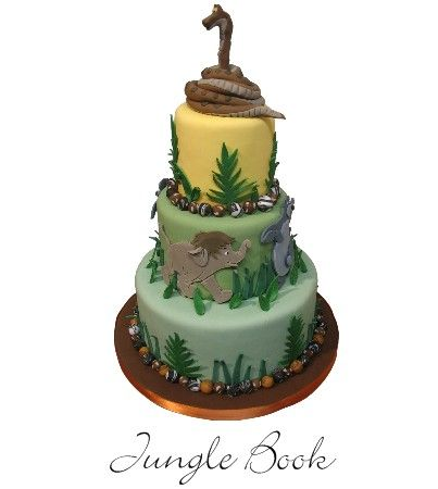 Gorgeous Jungle Book Cake, via The Disney Cake Blog