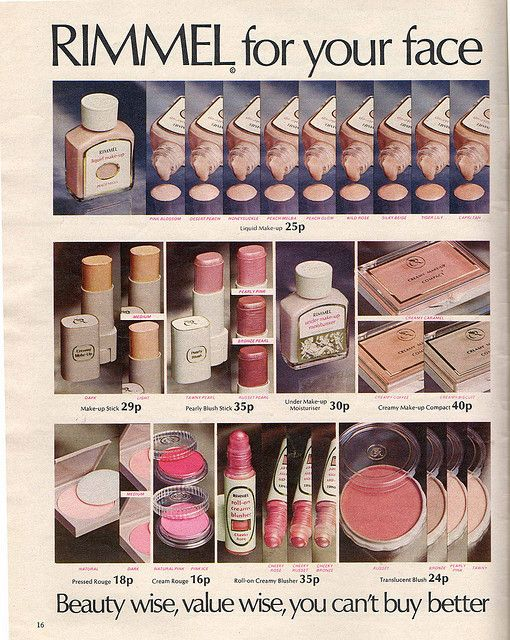 Vintage Rimmel.  What an extensive range of foundation!  White and Whiter.