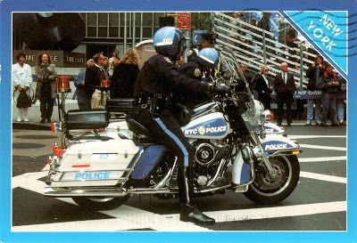 UNITED STATES (New York) - NYPD Highway Patrol Patrolling Midtown Manhattan