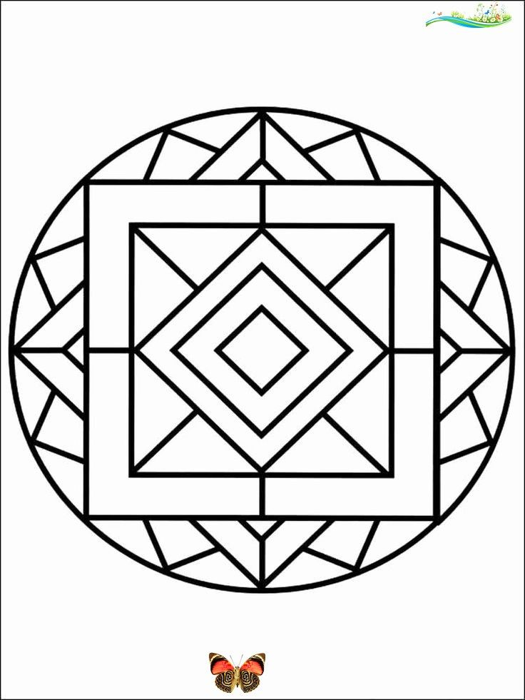 Easy Coloring Book For Adults Unique Simple Mandala Coloring Pages For Adults Free Printable Br 2020 Boyama Sayfalari Mandala Boyama Sayfalari Adult Coloring Pages