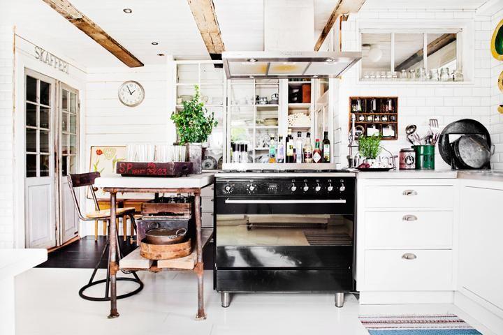 Vintagekök för storfamiljen – Hus & Hem