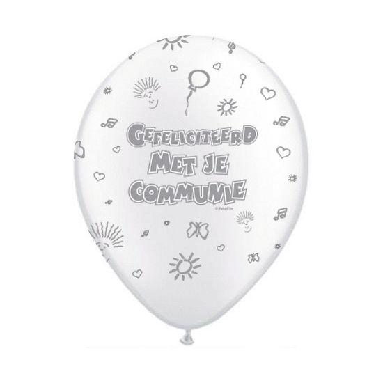 Communie ballonnen 8 stuks. Eerste communie ballonnen met een formaat van ongeveer 30 cm.