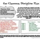 Classroom Discipline Plan, Calendars, & Forms
