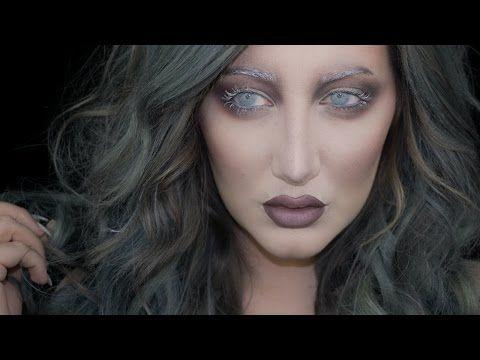 GHOST | Halloween Makeup Tutorial ft. NEW Makeup Geek Matte Shadows - YouTube