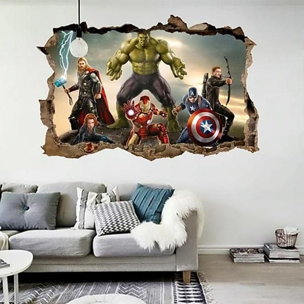 Avengers Wall Stickers For Kids Rooms 70 50cm Cool Souq Wall