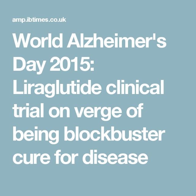 World Alzheimer's Day 2015: Liraglutide clinical trial on verge of being blockbuster cure for disease