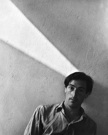 A 1951 photograph of expatriate painter Dennis Knight Turner, by photographer William Mansill of Sydney.