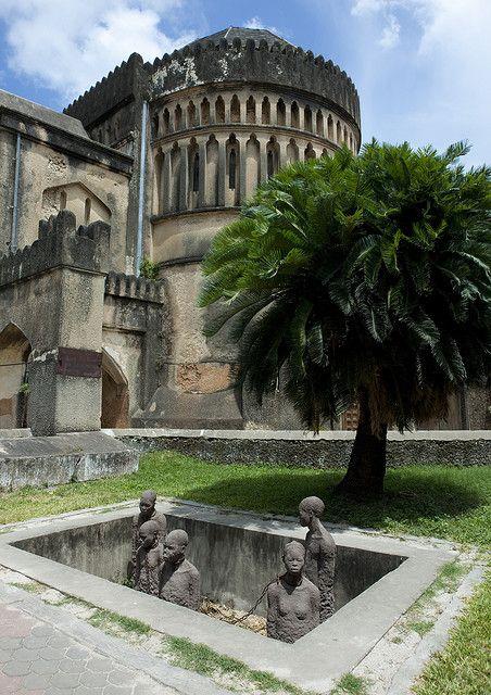 Memorial for slave market in the Stone Town of Zanzibar (UNESCO World Heritage Site), Tanzania