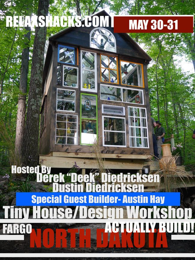 The Glass House & Upcoming Workshop with Derek 'Deek' Diedricksen - http://www.tinyhouseliving.com/the-glass-house-upcoming-workshop-with-derek-deek-diedricksen/