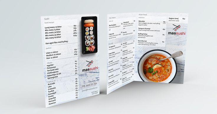 Menu design for Mas Sushi