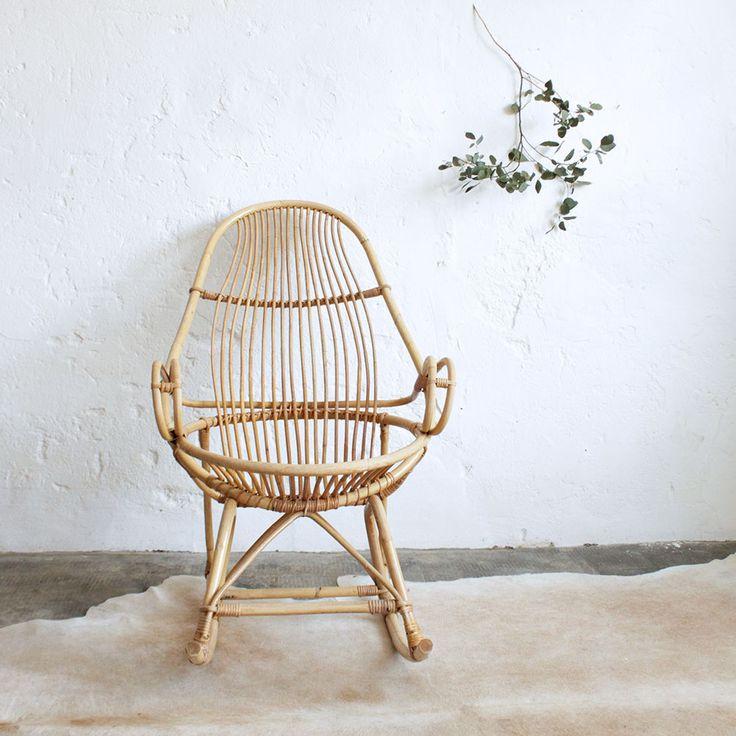 vintage rattan rocking-chair - atelierdupetitparc.fr