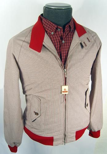Baracuta G9 - Vintage Fit Micro Check Jacket (Red)