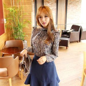 Korea Womens Luxury Shopping Mall [mimindidi] Altman ♡ bl / Size : FREE / Price : 47.14 USD #korea #fashion #style #fashionshop #apperal #luxury #lovely #mimididi #top #blouse #dailylook #patternblouse