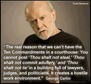 Hostile work environment!  Funny man ... that George Carlin!