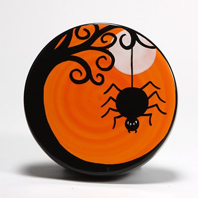 halloween spider wall pocket what a great orange color - Halloween Spiders
