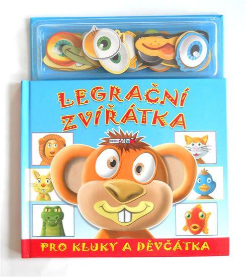 Magnetická knížka Legrační zvířátka pro kluky a děvčátka nabízí originální tvořivou zábavu pro menší děti. Deseti různým obličejům zvířat chybějí oči, nos a ústa, které mohou děti libovolně do obrázků doplňovat ze zásoby téměř 40 barevných magnetek....