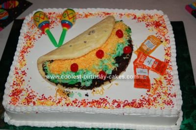 Homemade Taco Birthday Cake