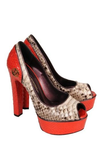 Cashhimi Python Platform Open Toe Pump by Something For Everyone on @HauteLook