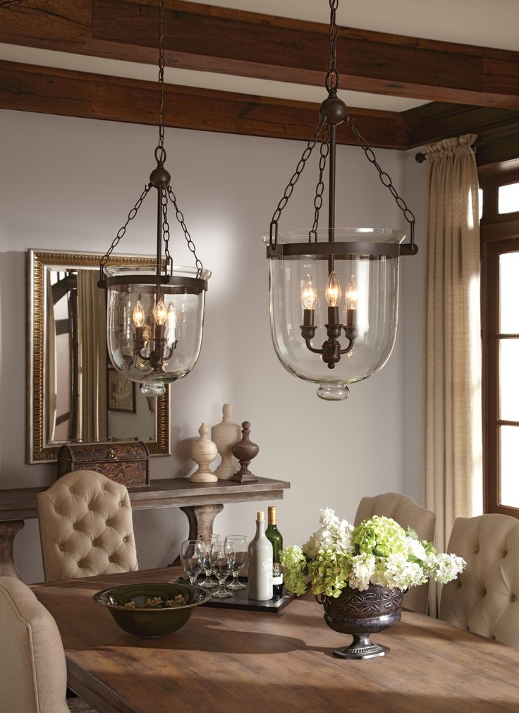 51 best images about dining room chandeliers on pinterest for Dining room 3 pendant lights