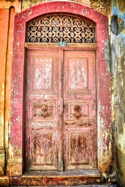 Old Door. Greece. By DynOpt: Red Doors, Beautiful Old Doors, Doors Ug, Portal, Doors Greece, Greek Doors, Bedrooms Doors, Doors 32, Pink Doors