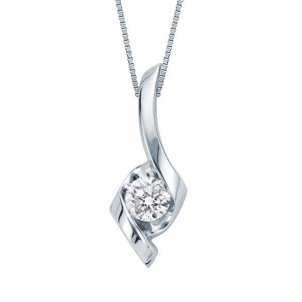 Sirena 174 1 4 Ct Tw Diamond Pendant In 14k White Gold