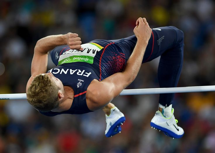 Kevin Mayer of France competes in the Men's Decathlon High Jump on Day 12 of the Rio 2016 Olympic Games at the Olympic Stadium on August 17, 2016 in Rio de Janeiro, Brazil.