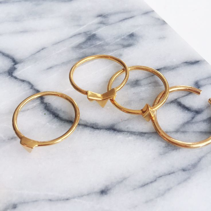 Simple everyday skinny rings. Gold plated. See more here: http://shop.leawinberg.dk/collections/rings