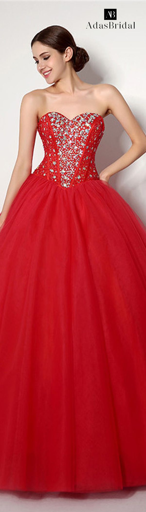 Red tone Sparkle & Shine floor-length Occasion Dresses (WWD70470)